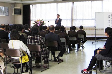 小矢部市立東部小学校PTA研修会で講演 (平成28年11月12日)